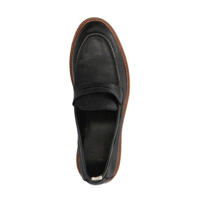Mocassins en cuir - noir