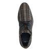 Chaussures à lacets en cuir avec imprimé carreaux - gris