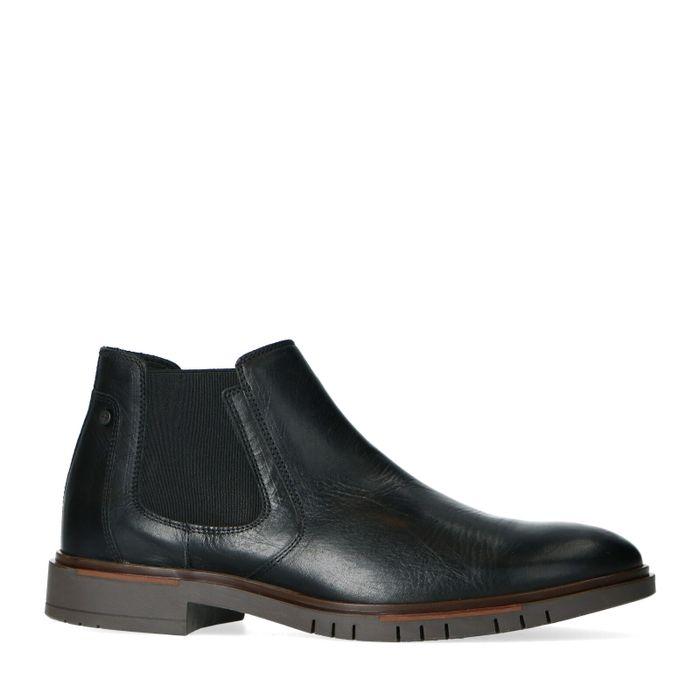 Chelsea boots synthétique avec semelle - noir