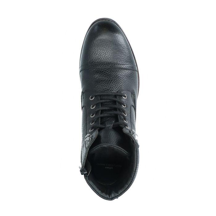 Boots à lacets en cuir - noir