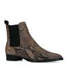 Chelsea boots en cuir avec imprimé serpent