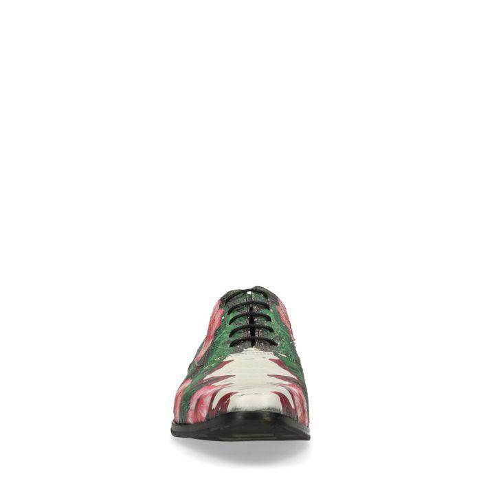 Chaussures à lacets en cuir avec imprimé fleuri - rose