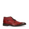 Chaussures à lacets en cuir avec élastique - rouge