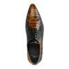 Chaussures à lacets en cuir avec imprimé serpent