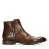 Boots basses en cuir - marron