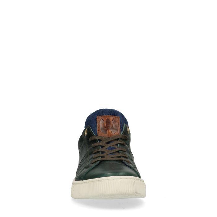 Baskets avec détail bleu - vert foncé