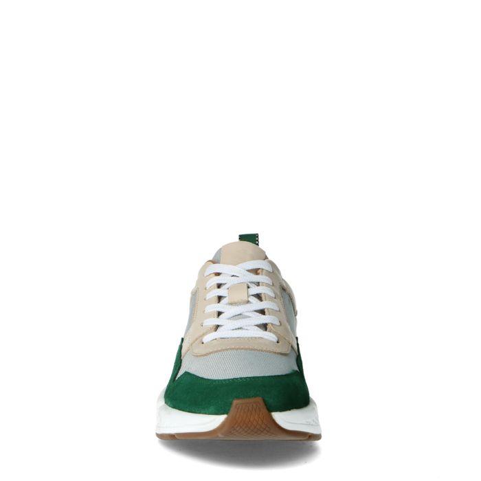 Baskets en cuir avec détail vert - multicolore