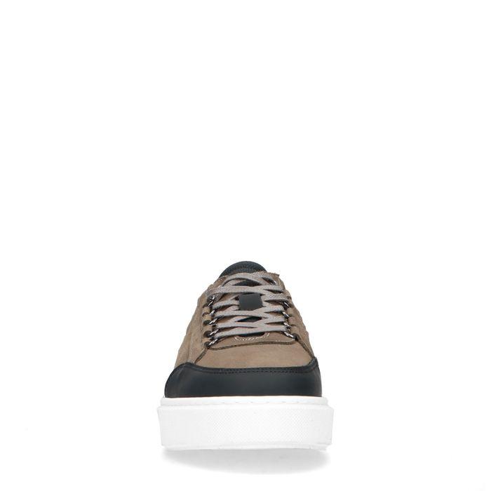 Baskets en cuir - kaki