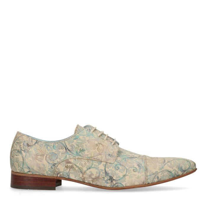 Chaussures à lacets avec imprimé fleuri - vert clair