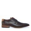 Chaussures à lacets en cuir avec motif - marron foncé