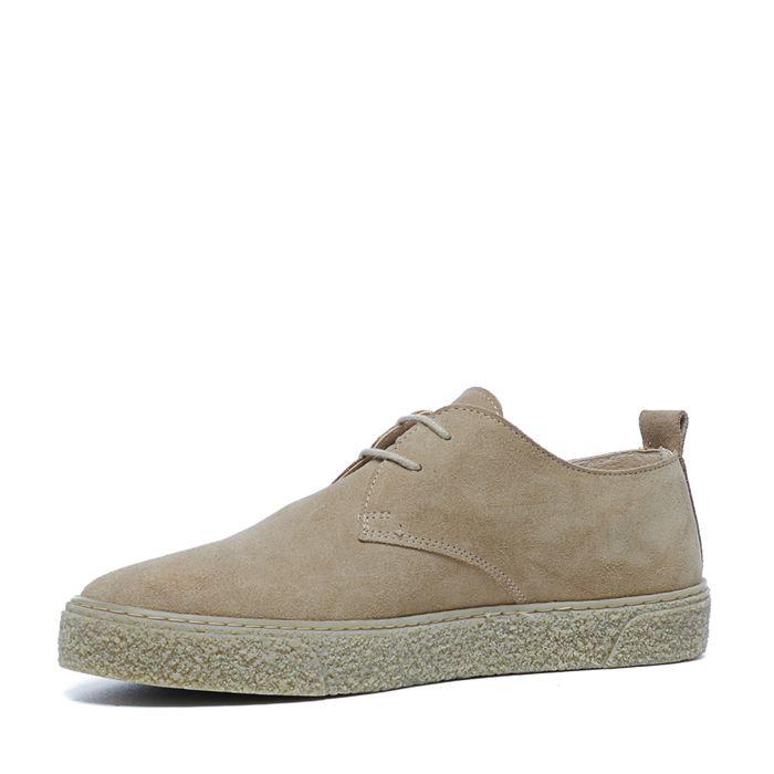 Chaussures à lacets en daim - beige