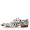 Chaussures à lacets en daim avec mosaïque - beige