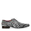 Chaussures à lacets en daim avec imprimé zèbre