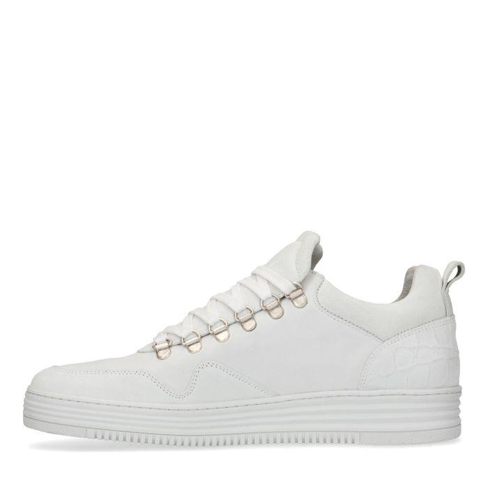 Baskets en daim - blanc