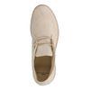 Boots à lacets en daim - blanc cassé