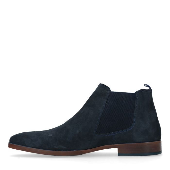 Chelsea boots en daim - bleu
