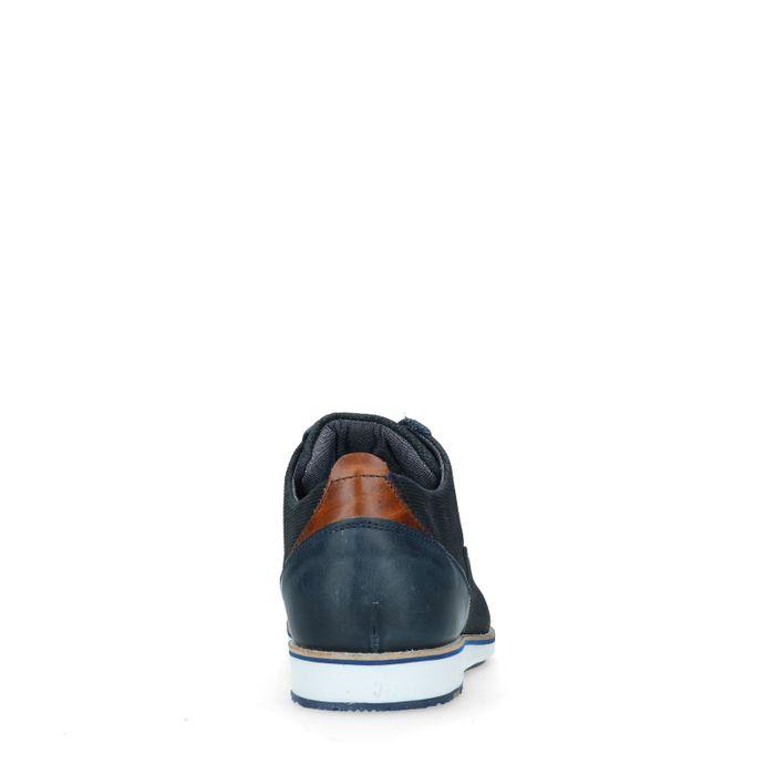 Chaussures à lacets en daim décontractées - bleu
