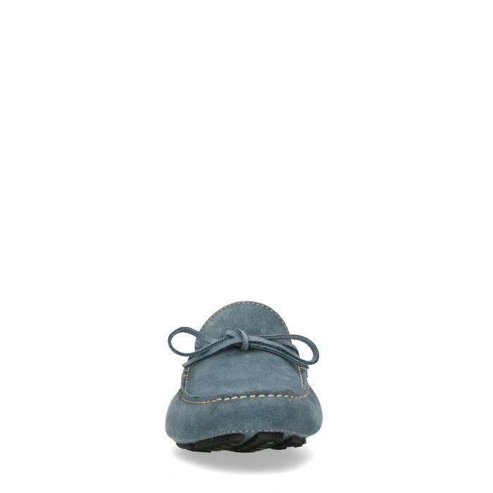 Mocassins en daim - bleu