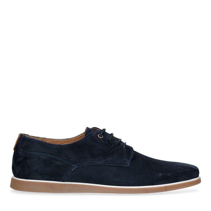 Chaussures à lacets en daim - bleu foncé