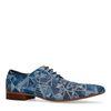 Chaussures à lacets en daim avec mosaïque - bleu