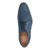 Chaussures à lacets en daim avec motif - bleu
