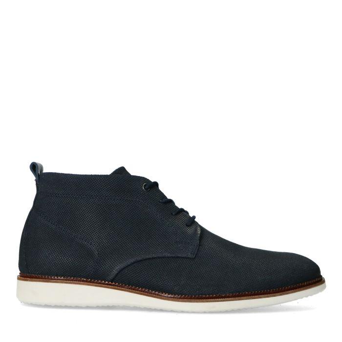 Chaussures à lacets en daim - bleu