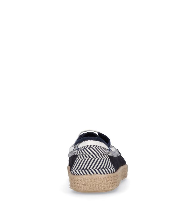 Baskets en daim basses avec semelle corde - bleu foncé