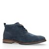 Boots à lacets en daim - bleu foncé