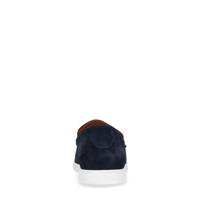 Mocassins en daim - bleu foncé