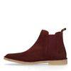 Chelsea boots en daim - rouge
