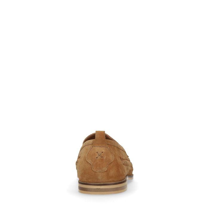 Mocassins avec détails ajourés - marron