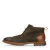 Boots à lacets en daim - marron foncé