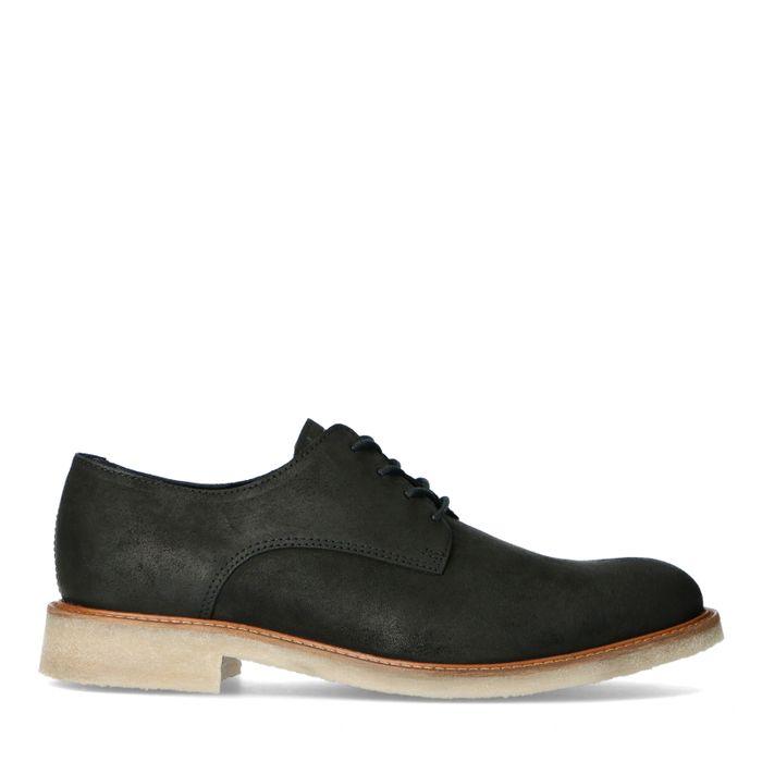 Chaussures à lacets en daim - marron foncé