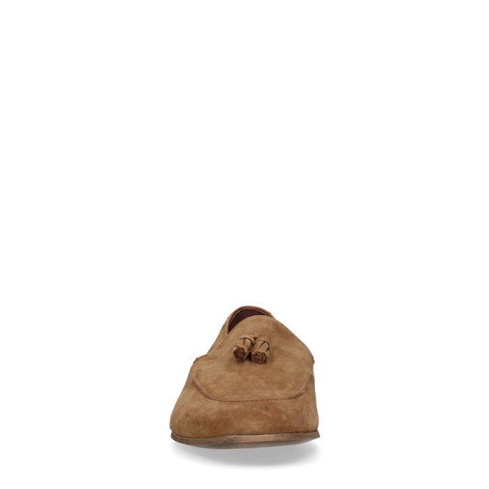 Loafers en daim - camel