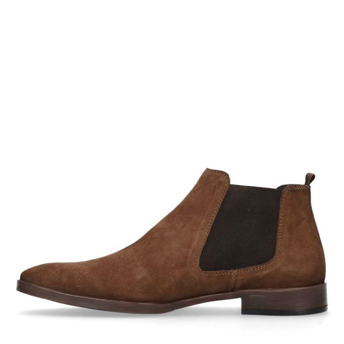 chelsea boots en daim marron hommes sacha. Black Bedroom Furniture Sets. Home Design Ideas