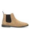 Chelsea boots en daim - marron
