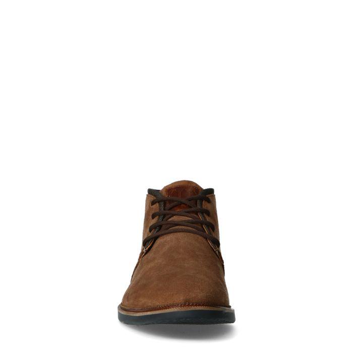 Chaussures à lacets en daim - marron