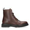 Boots à lacets en cuir avec semelle - marron