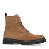 Boots à lacets en daim avec semelle - marron