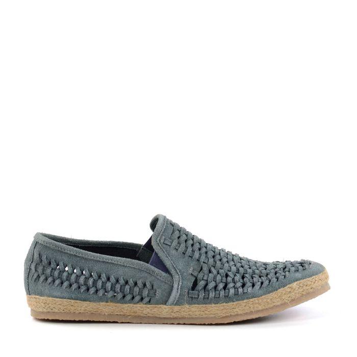 Loafers en daim tressés - bleu