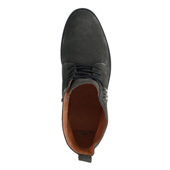 Boots à lacets en daim - gris