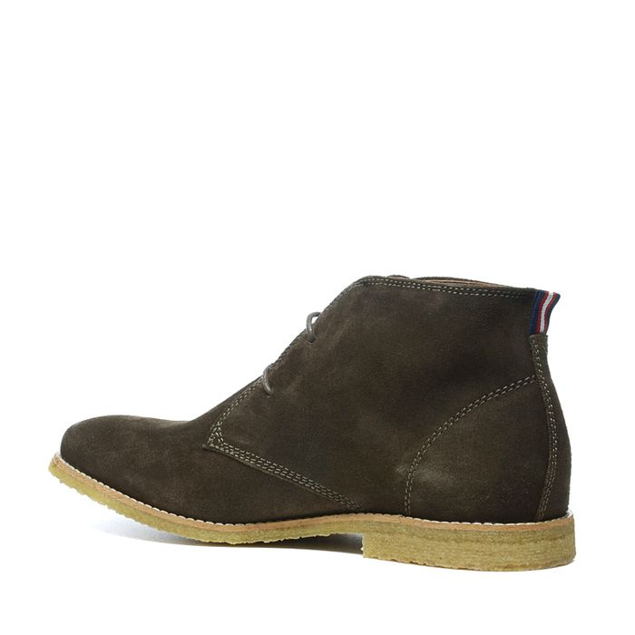 Desert boots montantes en daim - vert