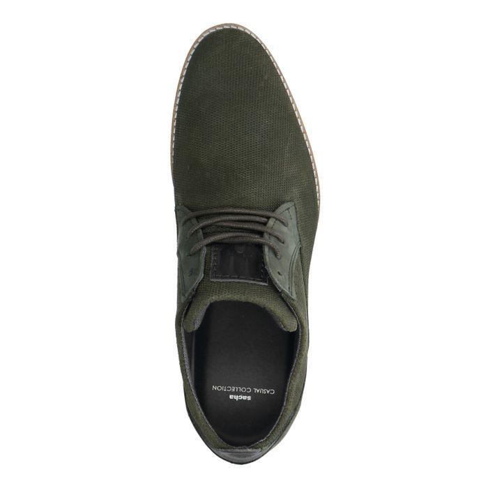 Chaussures à lacets en daim - vert