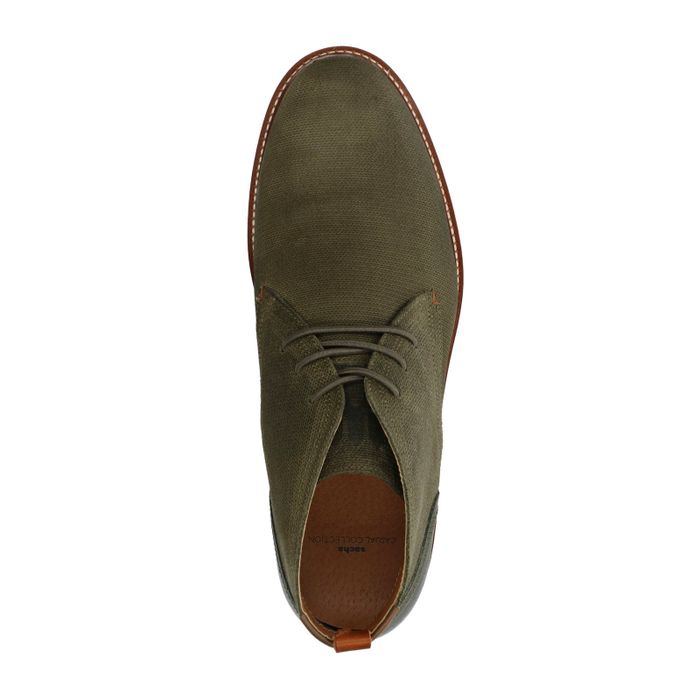 Boots à lacets en daim - vert