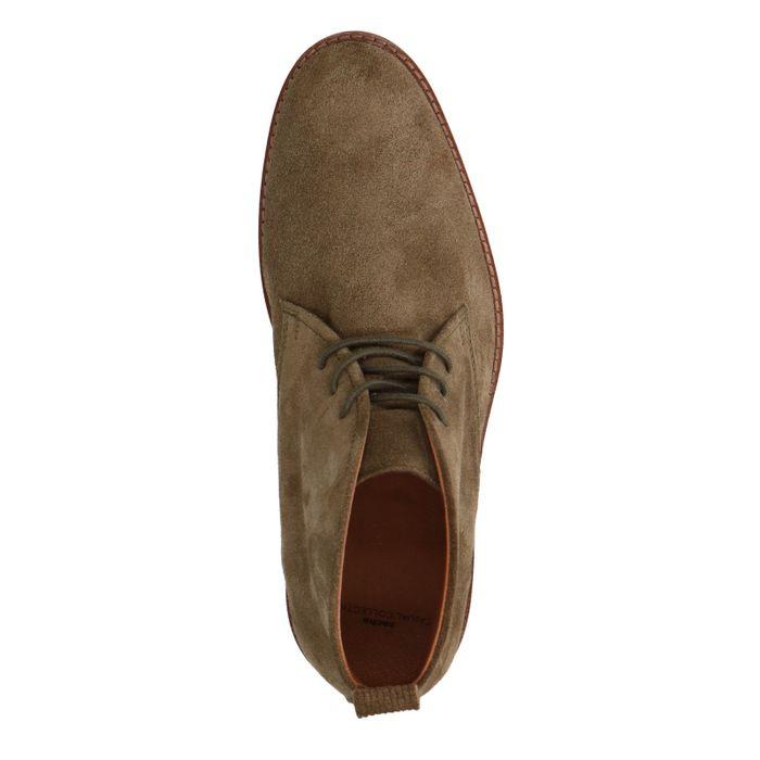 Boots à lacets en daim - kaki