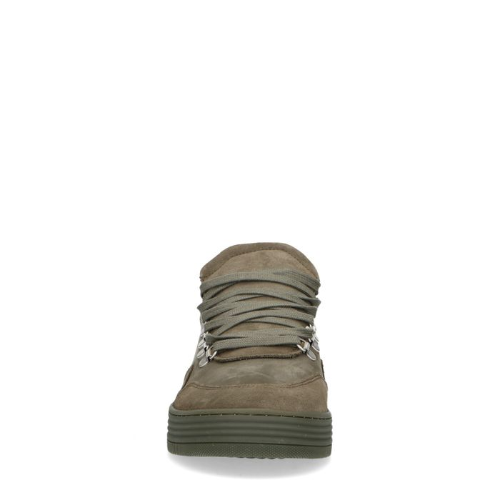Baskets en daim - kaki