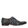 Chaussures à lacets en daim avec imprimé