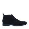 Chaussures à lacets en daim montantes - noir