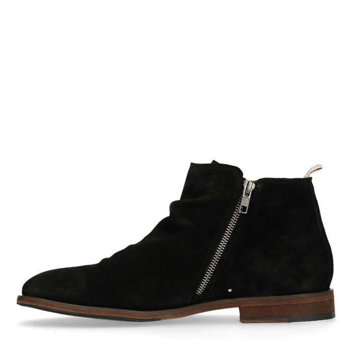 Boots basses avec fermeture éclair - noir