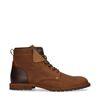 Boots à lacets en daim avec détails - bleu